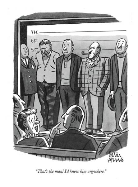 Drawing - That's The Man! I'd Know Him Anywhere by Peter Arno