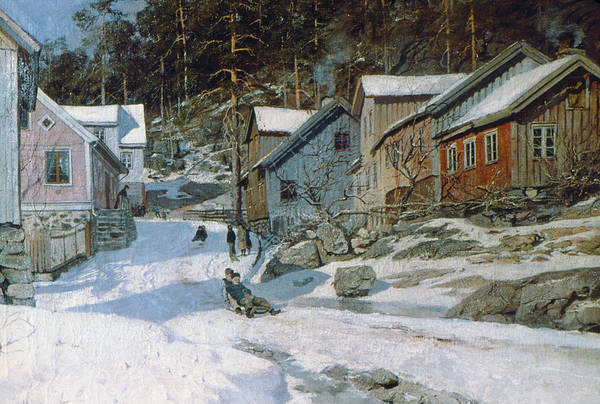 Wall Art - Painting - Thaulow Krager�, 1882 by Granger