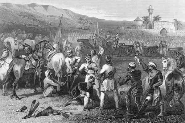 Wall Art - Drawing - The 11th Irregular Cavalry (of  Sepoys) by Mary Evans Picture Library
