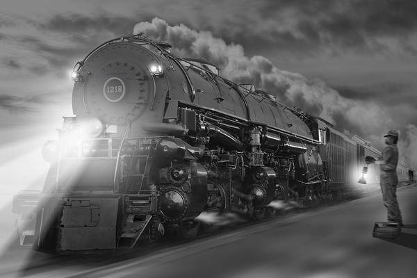 Steam Engine Photograph - The 1218 On The Move 2 by Mike McGlothlen