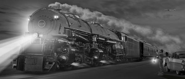 Wall Art - Photograph - The 1218 On The Move - Panoramic by Mike McGlothlen