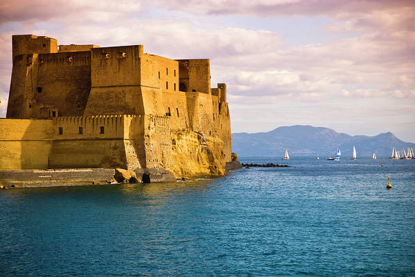 Fortified Wall Art - Photograph - The 12th Century Castel Dellovo by Glenn Beanland