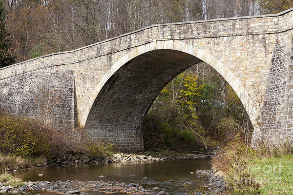 Photograph - The 1813 Casselman River Bridge by William Kuta