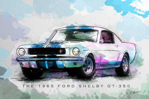 Wall Art - Digital Art - The 1965 Ford Shelby Gt 350  by Gary Bodnar