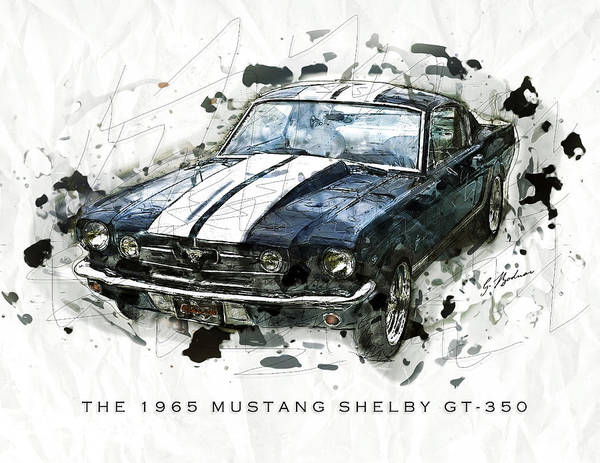 Wall Art - Digital Art - The 1965 Shelby Gto-350 #3 by Gary Bodnar