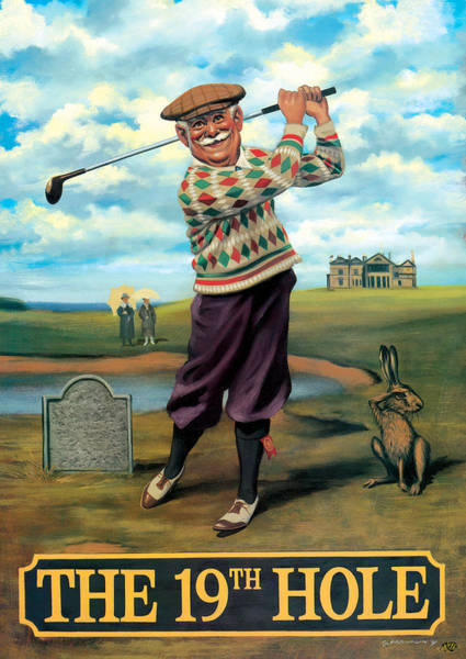 Wall Art - Painting - The 19th Hole by MGL Meiklejohn Graphics Licensing
