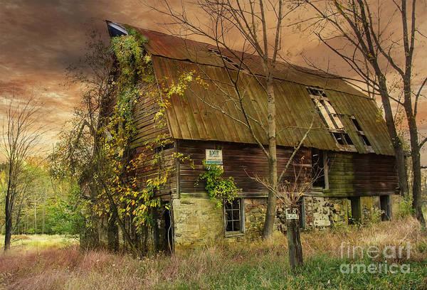 Photograph - The Abandoned Barn by Debra Fedchin