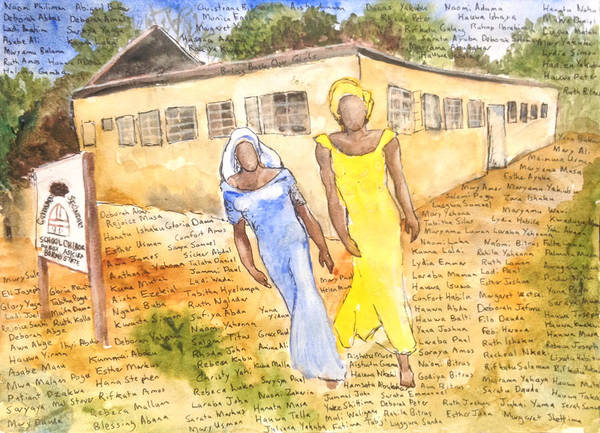 Painting - The Abducted Girls Of Chibok by Brian Meyer