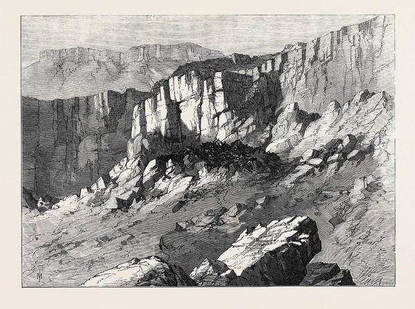 Wall Art - Drawing - The Abyssinian Expedition The Place Of Execution by English School