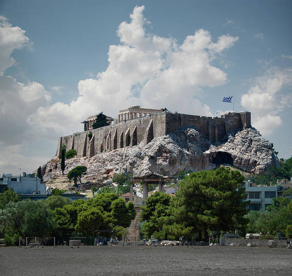 Ancient Greek Photograph - The Acropolis In Athens by Ed Freeman