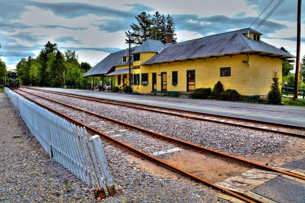 Photograph - The Adirondack Scenic Railroad by David Patterson