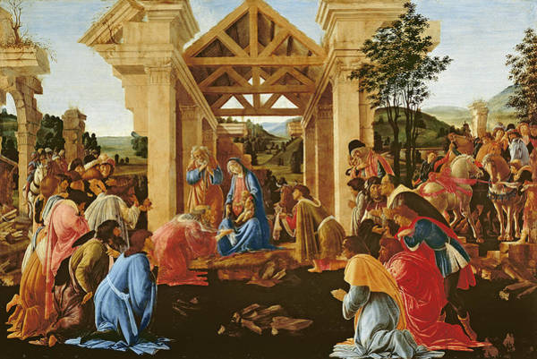 Sandro Botticelli Painting - The Adoration Of The Magi by Sandro Botticelli