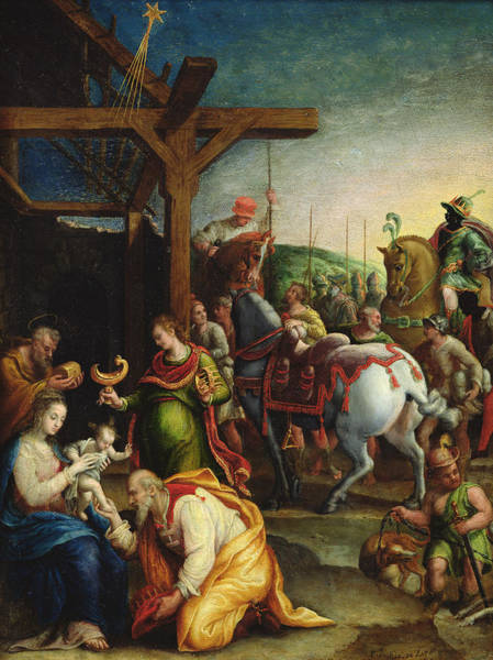 Birth Of Christ Wall Art - Painting - The Adoration Of The Magi by Lavinia Fontana