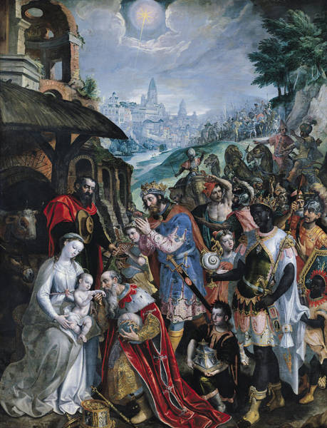 Mage Wall Art - Painting - The Adoration Of The Magi  by Maarten de Vos