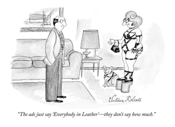 The Ads Just Say 'everybody In Leather' - Art Print