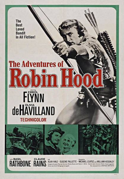 Photograph - The Adventures Of Robin Hood B by Movie Poster Prints