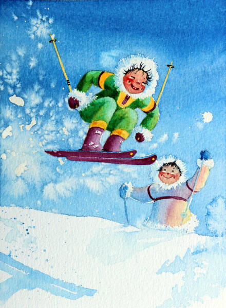 Wall Art - Painting - The Aerial Skier - 10 by Hanne Lore Koehler