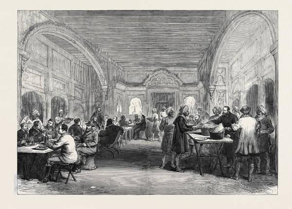 Mess Drawing - The Afghan War Headquarters Mess At Dakka November 27 1879 by English School