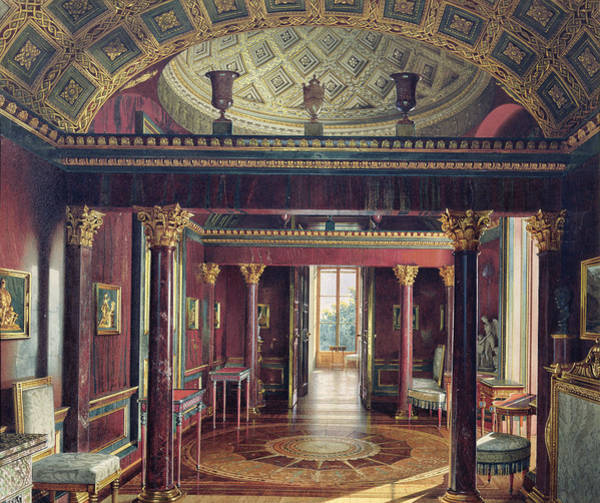 Imperial Russia Photograph - The Agate Room In The Catherine Palace At Tsarskoye Selo, 1859  Wc & White Colour On Paper by Luigi Premazzi