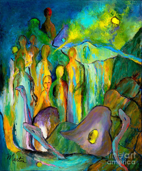 Hallucination Painting - The Age Of Aquarius by Larry Martin