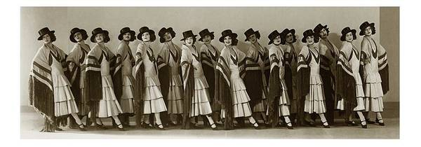 Group Of People Photograph - The Albertina Rasch Girls In Rio Rita by Florence Vandamm
