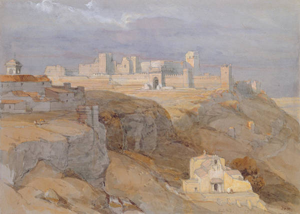 Andalusia Wall Art - Drawing - The Alcazar Of Carmona, Andalucia by David Roberts
