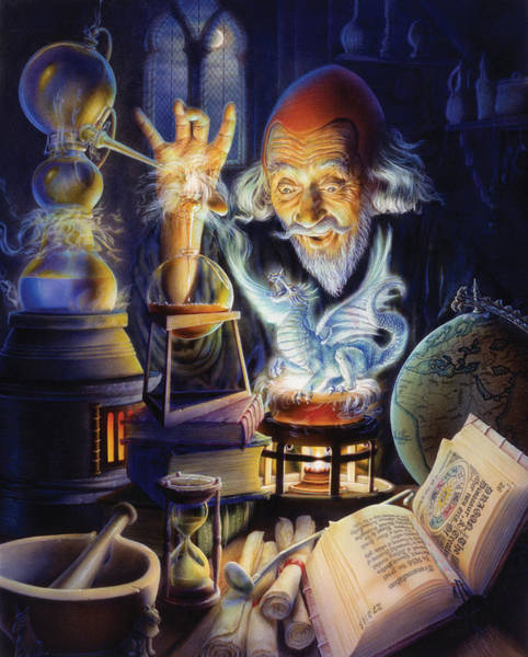 Andrew Farley Photograph - The Alchemist by MGL Meiklejohn Graphics Licensing