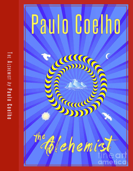 Front Room Digital Art - The Alchemist Book Cover Poster Art 1 by Nishanth Gopinathan