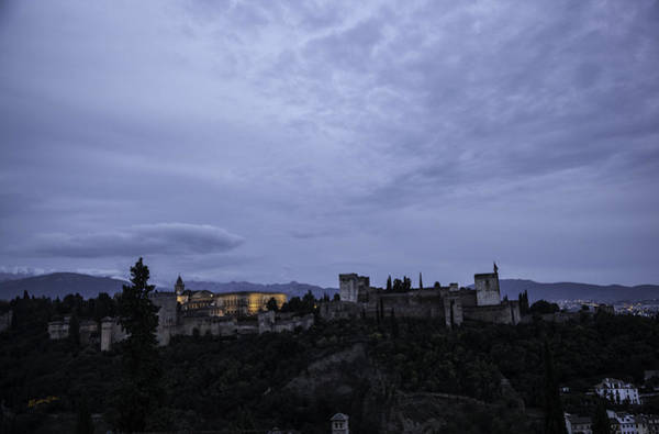 Wall Art - Photograph - The Alhambra Lit Up - Granada - Spain by Madeline Ellis