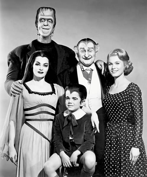 Halloween Photograph - The All American Munsters Family by Daniel Hagerman