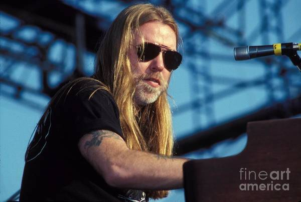 Allman Brothers Band Photograph - The Allman Brothers Band by Concert Photos
