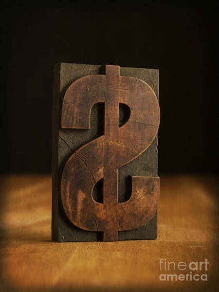 Reverse Wall Art - Photograph - The Almighty Dollar by Edward Fielding