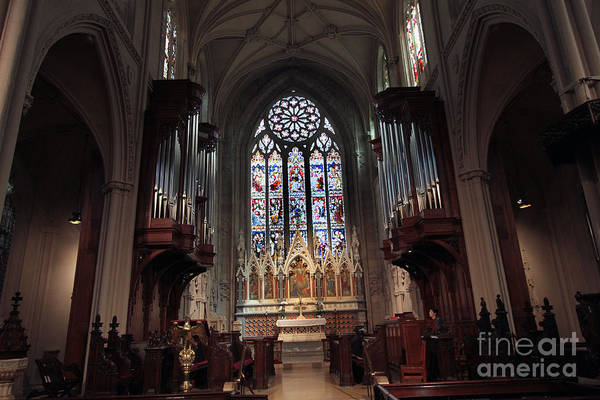 Photograph - The Alter At Grace Church by Steven Spak