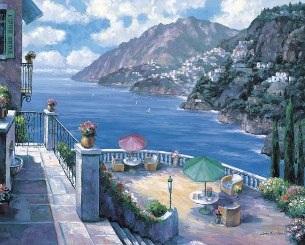 Oceanscape Painting - The Amalfi Coast by John Zaccheo