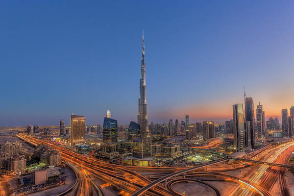 Traffic Wall Art - Photograph - The Amazing Burj Khalifah by Mohammad Rustam
