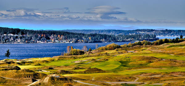 Photograph - The Amazing Chambers Bay Golf Course - Site Of The 2015 U.s. Open Golf Tournament by David Patterson