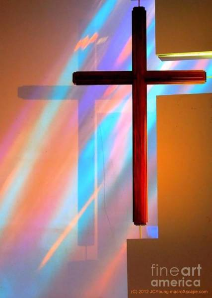 The Amazing Cross Art Print by JCYoung MacroXscape