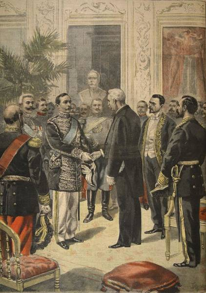 Palace Drawing - The Ambassador Of Russia, Prince by F.L. & Tofani, Oswaldo Meaulle