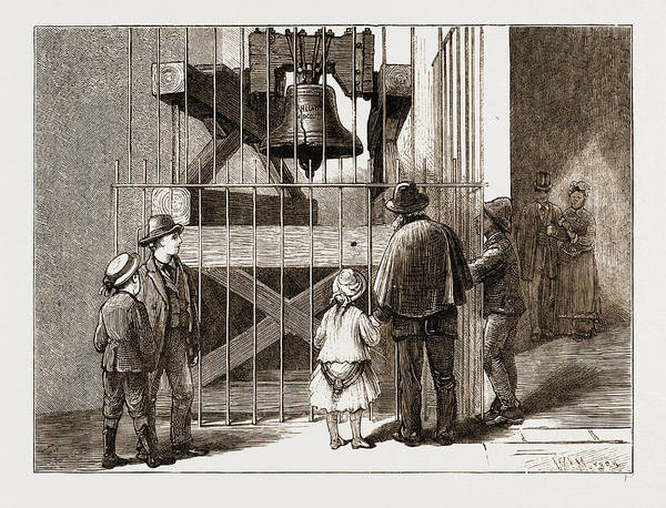 Wall Art - Drawing - The American Centennial Exhibition, 1876 Liberty Bell by Litz Collection