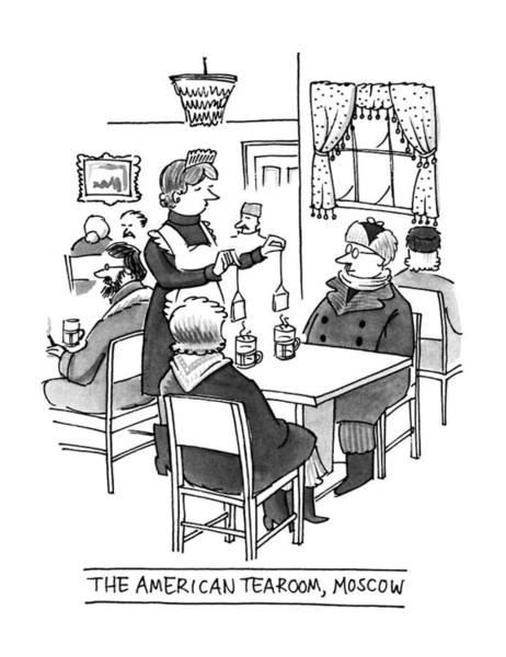 Parody Drawing - The American Tearoom by Peter Steiner