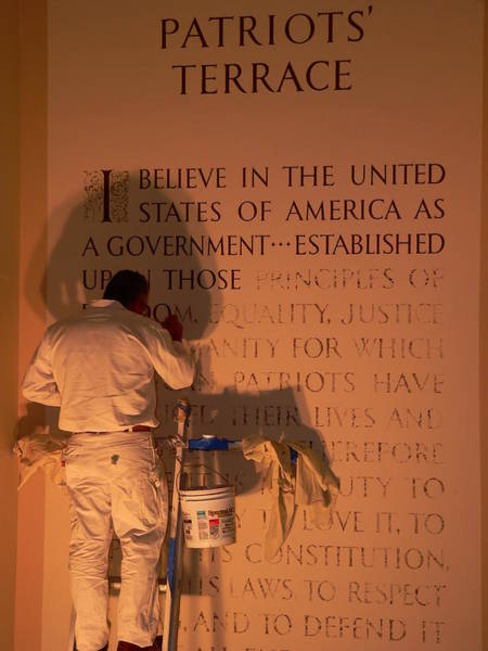 Photograph - The American's Creed by Jeff Lowe
