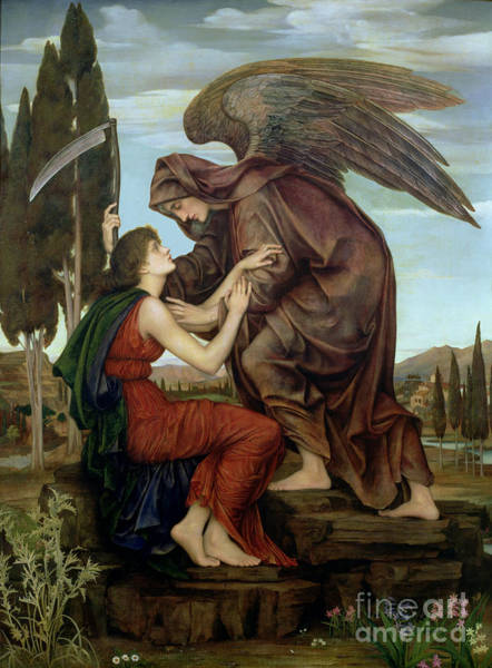 Dying Painting - The Angel Of Death by Evelyn De Morgan