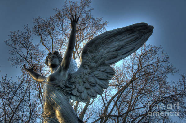 Angel Of Peace Photograph - The Angel Of Dusk by Lee Dos Santos