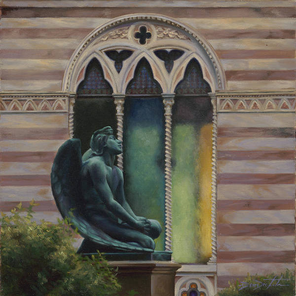 San Miniato Painting - The Angel Of San Miniato by Deirdre West