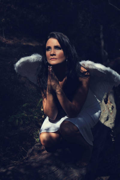 Wall Art - Photograph - The Angel Prayed by Laurie Search