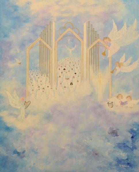 Angelic Beings Painting - The Angels Choir A Celebration by Judy M Watts-Rohanna