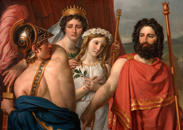 Wall Art - Painting - The Anger Of Achilles by Jacques-Louis David