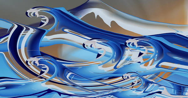 Digital Art - The Angry Sea by rd Erickson