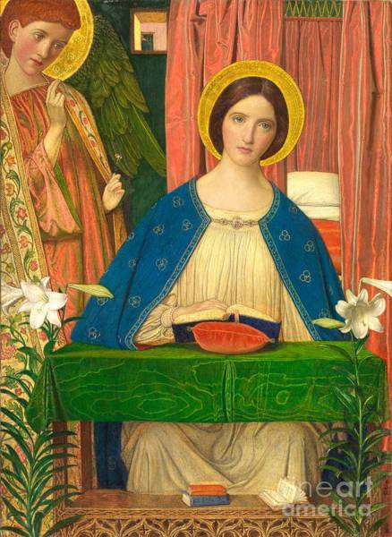 Seat Painting - The Annunciation by Arthur Joseph Gaskin