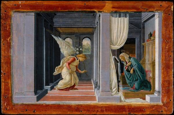 Botticelli Wall Art - Painting - The Annunciation by Botticelli
